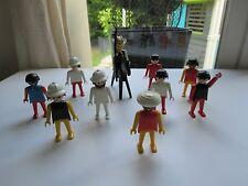 🌟 Ancien Lot De 10 Figurines Playmobil Année 1974 Avec Un Cheval Noir