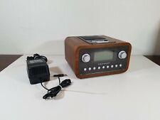 CROSLEY CR02-002A Dock Clock Radio With Original Power Supply Adapter EUC