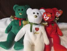 Ty  Beanie Babies 2004 Retired 3 pc  GIFT set  LOVE JOY PEACE 47003 47004 47005