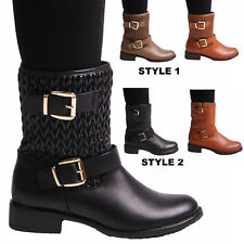 New Ladies Women Winter Ankle  Boots Casual Warm Fashion Everyday Shoes Size 3-8