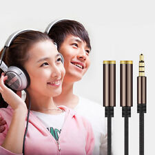 30cm 3.5mm Stereo Audio Male To 2 Female Headset Mic Y Splitter Cable Adapter