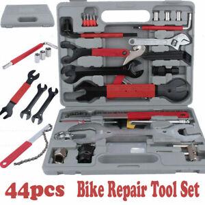 44PCS Hardware Hand Tool Kit Car Bike Bicycle Maintenance Wrench Repair Set NEW