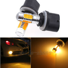 2pcs 880 899 Yellow Amber COB LED Projector Lens Bulb Car Driving Fog Light Lamp