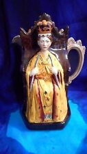 1953 BURLEIGH WARE CORONATION QUEEN ELIZABETH II THRONE JUG PITCHER E.T. BAILEY