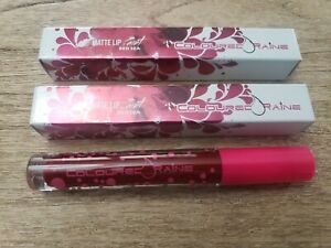 2X Coloured Raine Matte Lip Paint Red Sea 3.5g New In Box Full Size