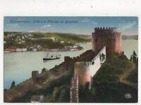 Constantinople Chateaux d'Europe Bosphore Turkey Vintage Postcard 400b