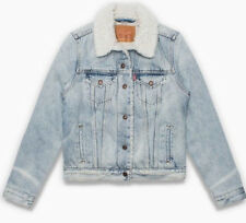 Levis Sherpa Womens Trucker Jacket # 283440003 Levi's Denim Sherpa Levi Strauss