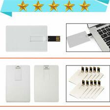 USB Flash Drive Credit Card 1MB-64GB USB 2.0 Flash Memory Stick Pen Drive Withe-