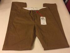 NEW Mens Ben Sherman 30 Waist 34 Leg Burnt Gold Tan Cotton Chinos Trousers