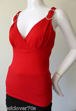 EVENTS Sleeveless Red Stretch Kint Top Size Small