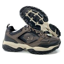 NEW Skechers Afterburn 59975 Memory Foam Athletic Walking Shoes Brown Men Size 9