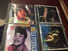 4 CD Lot ELLA FITZGERALD--ELLA- THESE ARE THE BLUES-ROCK IT FOR ME- AT LAST