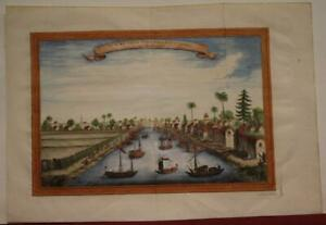 JO SI WO CHINA 1749 JACQUES NICOLAS BELLIN ANTIQUE ORIGINAL COPPER ENGRAVED VIEW