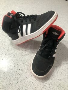 Adidas Boys Hoops Mid 2.0 K Basketball Shoe, Youth 5, Black/White/Red