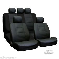 New Porous Black Leatherette Car Seat Covers Set For Hyundai