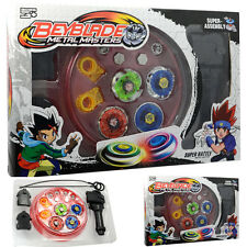 4D Beyblade Stadium Metal Master Burst Fusion Fight Rare Launcher Grip Set AU