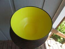 Retro 1960's Husqvarna Large Bright Yellow Plastic Salad Bowl Made in Sweden
