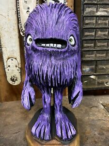 MONSTER Chainsaw Carving LOCUST Wooden MONSTER DUDE Art Sculpture ONE of a KIND!