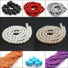 GLASWACHSPERLEN 10mm Strange 85 perlen RUND Pearl Glass Farbauswahl