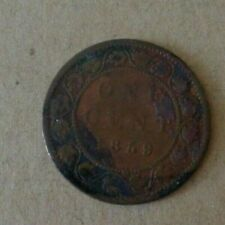 Canada coin 1859 Large Cent, Queen Victoria low condition