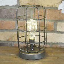 Industrial Style Metal Caged Table Light Bedside Office Desk Lamp Lighting New