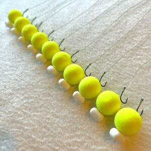 10 X HAIR RIGS LOADED 18mm PEAR & PINEAPPLE POP-UPS CARP FLYNSCOTSMAN TACKLE