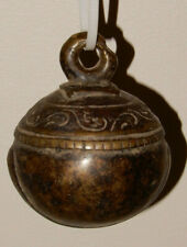 """Vintage Bronze Round Bell - Cow Bell ?   3"""" Wide - again, VINTAGE"""