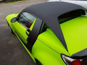 Smart Roadster coupe 452 all weather roof rain roof cover drive with it in place