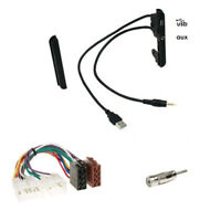2-DIN Blende Radioblende mit USB AUX+ISO Adapterkabel für Toyota RAV4 MR2 Celica