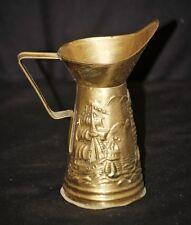 Old Vintage Peerage Brass Ships w Lighthouse Pitcher England