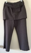 SPORTSGIRL Grey Dress Pants Trousers with Overskirt and Purse Size 10