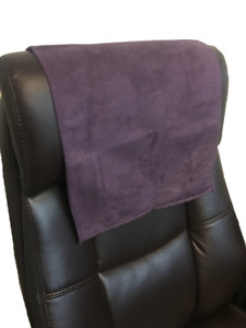 Recliner Head Rest Cover Suede faux Aubergine 14x30 Sofa Love seat Chaise