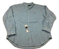 Polo Ralph Lauren Classic Fit Checkered Shirt Button Down Blue Men's Size 2XL
