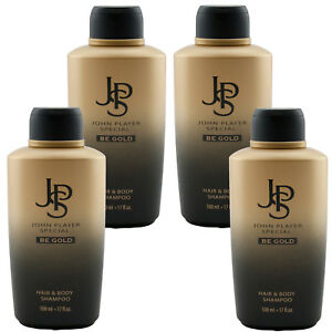 John Player Special JPS BE GOLD Hair & Body Gel 4 x 500 ml TOP PREIS