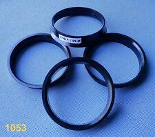 (1053) 4 pièces bagues de centrage 56,1/54,1 mm Noir pour jantes alu