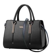Fashion Womens Satchel Crossbody Shoulder Bag PU Leather Tote Handbag Purse Lady