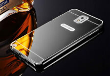 Black Aluminum Metal Frame Mirror Back Case Cover For Samsung Galaxy Note 3 S001