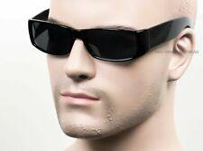 Dark Smoke Cholo Gangster Sunglasses OG LOC Style Lowrider Black Glossy 17SD