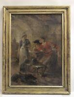 Gemälde Stubenszene Holland