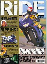 RIDE Oct 1999 GSX-R1100 ZX-9R RF900 ZZ-R1100 Ducati 750SS XJ600