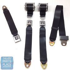 1978-88 GM G Body Cars Factory Style Rear Seat Belts - Set - Black