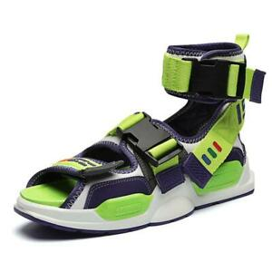 Men's Casual Open Toe Ankle Strap Slingback Sport Sandals Shoes Sneakers Green