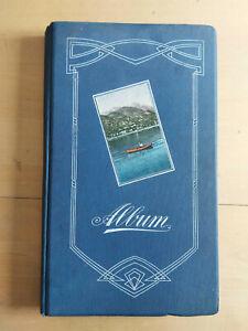 2) altes Postkartenalbum mit 160 AK, 1915-1945 (an eine Adresse adressiert)