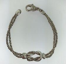 Tiffany & Co Sterling Silver Double Rope LOVE KNOT Bracelet .925