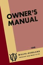 1948 Jeep CJ-3A Owners Manual User Guide Reference Operator Book Fuses Fluids