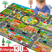 Play Mat City Road Buildings Parking Map Game Scene Toy Car Map For Children Kid