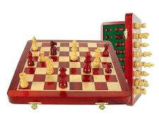 """12"""" Wooden Chess Set Travel Magnetic Folding Board Bloodwood - House of Chess"""