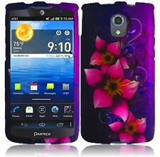 For AT&T Pantech Discover P9090 Rubberized HARD Case Phone Cover Mystical Flower