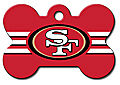 NFL SAN FRANCISCO 49NERS PERSONALIZED PET ID TAG