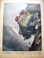 1938  INCIDENTE DI CAMION A LAGARO BOLOGNESE TRIBUNA ILLUSTRATA